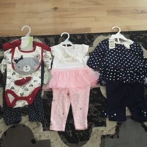 5 sets of baby girl clothes 3-9 months
